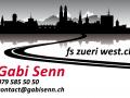 Fahrschule Gabi Senn, Visitenkarte Vorderseite